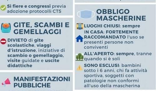 Immagine: COVID-19 DPCM 13 ottobre 2020 - Misure valide in tutta Italia per i prossimi 30 giorni.