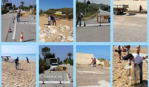 Immagine: Squadre comunali al lavoro per ripulire città e località balneari. Da lunedì 14 operai dedicati a rimozione erbacce e rifiuti