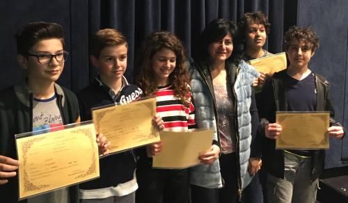 Immagine: Eccellenze menfitane. Cinque brillanti alunni si distinguono in francese.