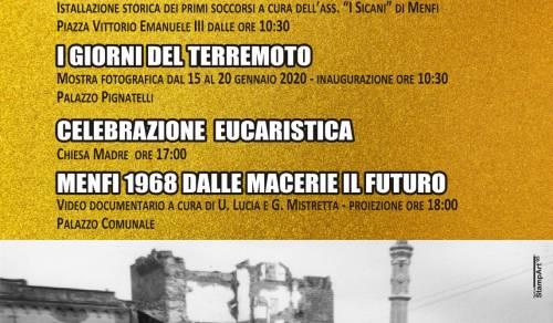 """Immagine: """"Terremoto '68 – 52 anni di memoria per le nuove generazioni"""""""
