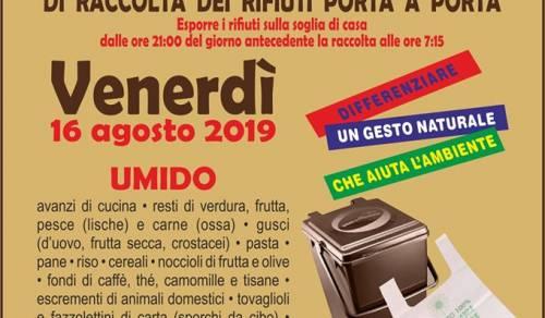Immagine: Ritiro frazione umida VENERDI 16 Agosto