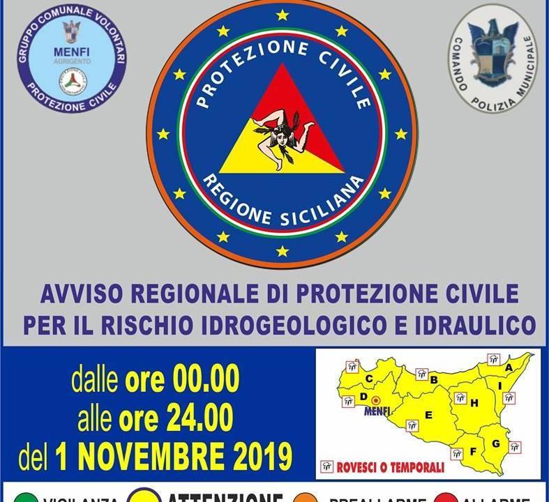 Immagine: AVVISO REGIONALE DI PROTEZIONE CIVILE PER IL RISCHIO METEO-IDROGEOLOGICO E IDRAULICO N.19304