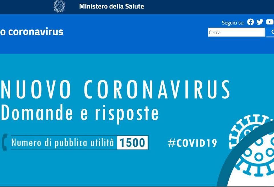 Immagine: NUOVO CORONAVIRUS - domande e risposte - Ministero della Salute