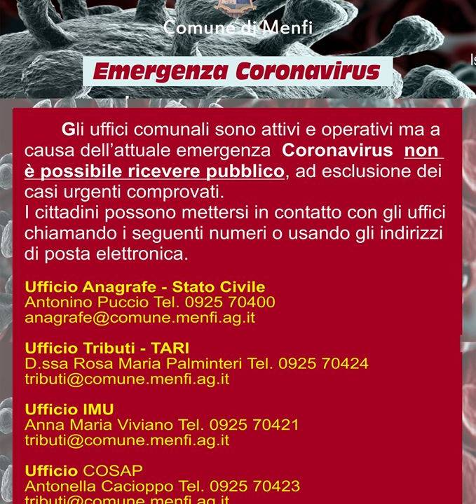 Immagine: AVVISO RICEZIONE PUBBLICO UFFICI COMUNALI.