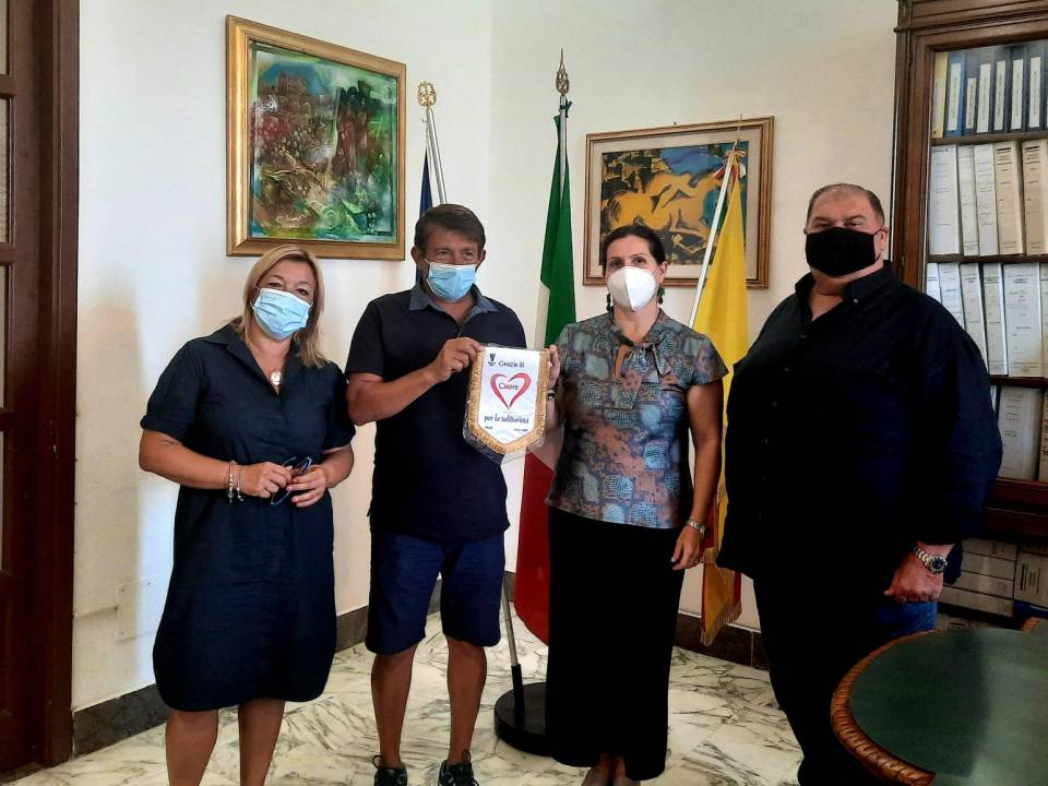 Immagine: Encomio ufficiale al concittadino Calogero di Carlo.
