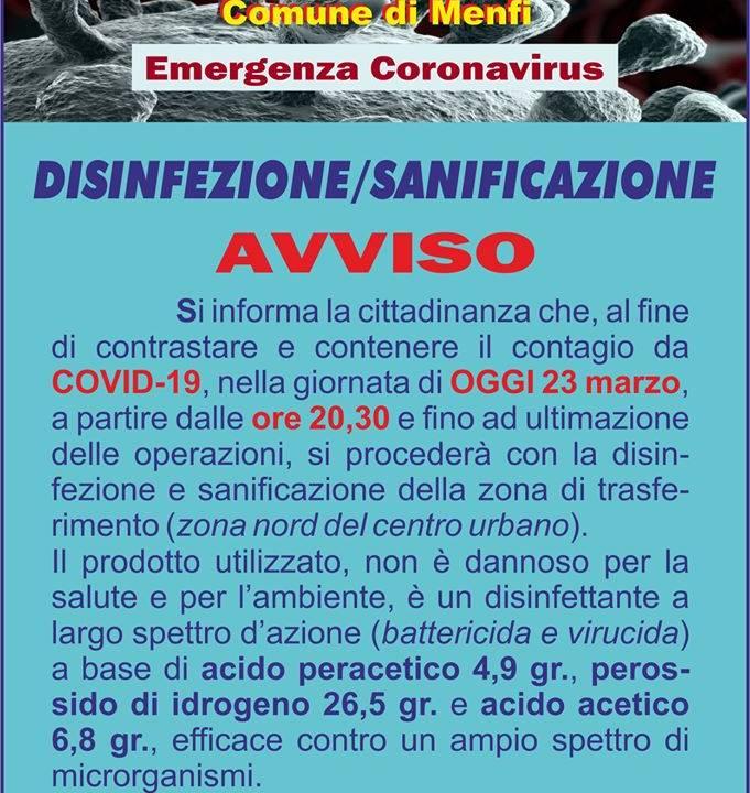 Immagine: Disinfezione - sanificazione
