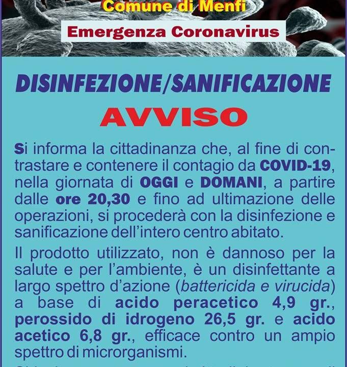 Immagine: Disinfezione/sanificazione