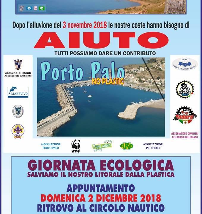 Immagine: Sabato 1 dicembre 2018 intervento alle - Solette - Domenica 2 dicembre 2018 si replica a - Porto Palo - e  -Lido Fiori -.