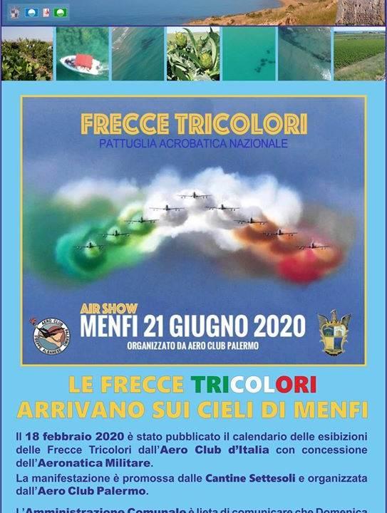 Immagine: Le frecce tricolori arriveranno sui cieli di Menfi