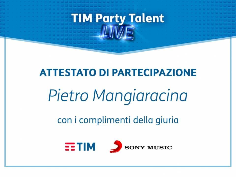 Immagine: Grande successo al Tim Party Talent del concittadino Piero Mangiaracina.