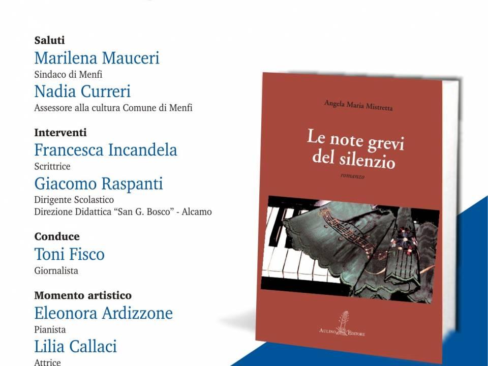 """Immagine: """"Le note grevi"""" ultima fatica letteraria della scrittrice menfitana Angela Maria Mistretta"""