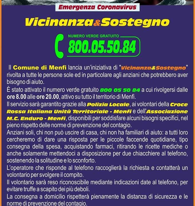 Immagine: VICINANZA&SOSTEGNO - NUMERO VERDE COMUNALE