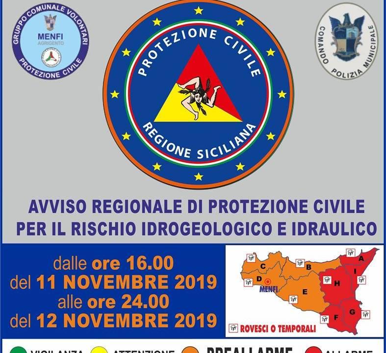 Immagine: AVVISO REGIONALE DI PROTEZIONE CIVILE PER IL RISCHIO METEO-IDROGEOLOGICO E IDRAULICO N.19315