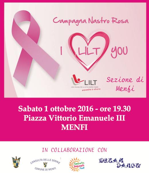 Immagine: Menfi, Palazzo Pignatelli illuminato di rosa per la campagna della LILT!