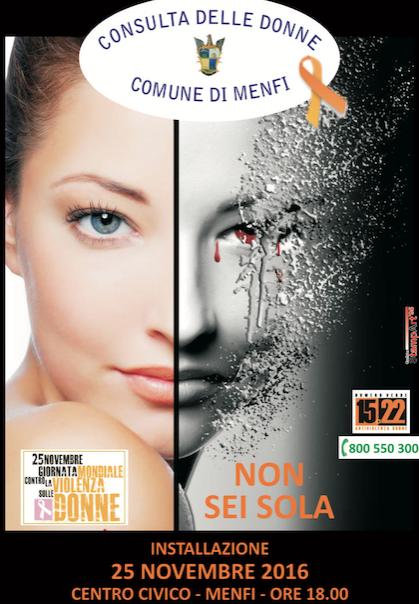 Immagine: Giornata contro la violenza sulle donne, a Menfi un'occasione di riflessione.
